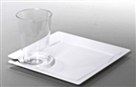 Milan 8.25 inch Plastic Party Plate w Cup Holder