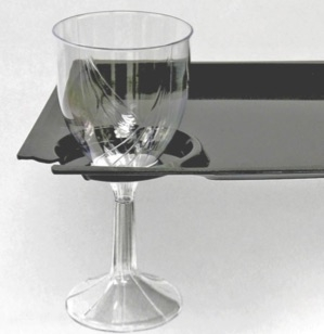 Milan & MSCTL Milan 8.25 inch Plastic Cocktail Party Plate with Cup Holder ...