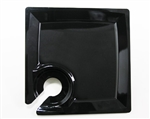 Milan Square Cocktail Plate Black - 8.25 in.