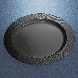 Black Opulence 7.5 in. Plastic Plates