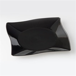 Black Large Square 10.25 in. Profiles Plate