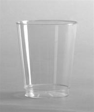 Comet Tall Rigid Plastic 7 oz. Clear Tumbler