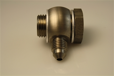 "9/16""-20 Banjo and Bolt to -3 Male AN - Stainless"