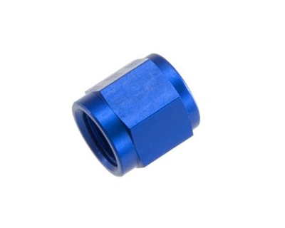 "-06 AN/JIC aluminum tube nut 9/16"" x 18 - blue"