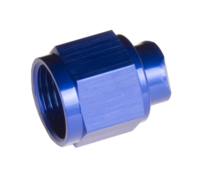 -03 two piece AN/JIC flare cap nut - blue