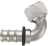 -08 120* Deg Push-On Hose End - Aluminum - Super Nickel Plated