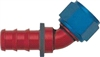 -12 45* Deg Push-On Hose End - Aluminum