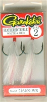 Gamakatsu Feathered Treble White Red 2
