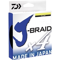 Daiwa J Braid 4 Strand Chartreuse 150 Yards