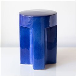 TX Ceramic Stool Blue