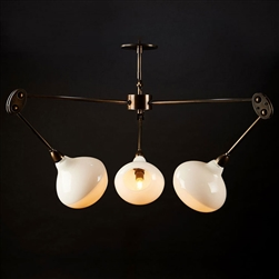 Customizable Mantis Pagano Chandelier Hand Blown Glass and Metal Armature
