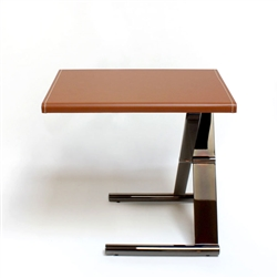 Ananta Side Table Honey Leather with Black Nickel