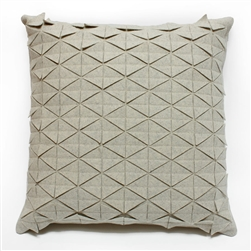 wool tile pillows beige