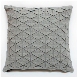 wool tile pillows grey