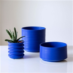 Porcelain Planters in Electric Blue