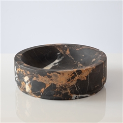 Marble Key Bowl Black and Gold