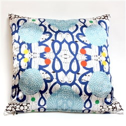 Sue Heatley Wood Cut Print on Satin Square Pillow
