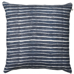 white / grey hand made hand printed linen pillow