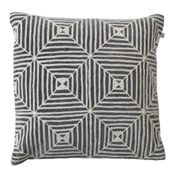 Hadnmade Kukgan Grey/ White Velvet Pillow