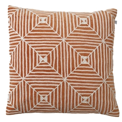 Hadnmade Kukgan Orange/ White Velvet Pillow