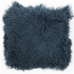 Tibetan Fur Pillow Slate