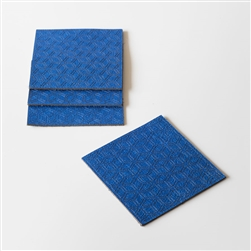 M Blue Leather Coasters