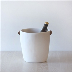 Handmade white resin Champagne bucket