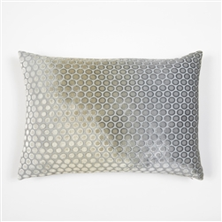 velvet, pillow, kevin, o'brien, color, dots, nickel, rectangle, silk, kevin o'brien,