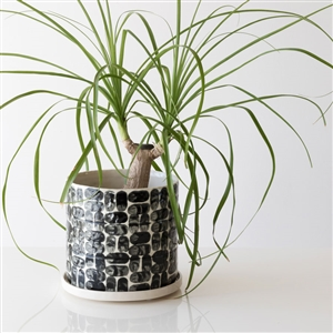 Pinched Black and White Planter