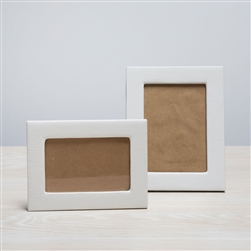 White Leather Frame