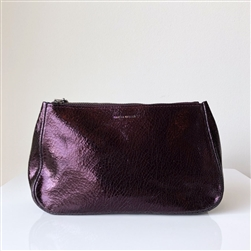 leather pouch eggplant distress