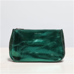 leather pouch distressed emerald