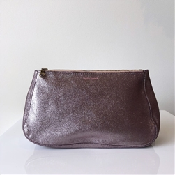 leather pouch lavender rosegold