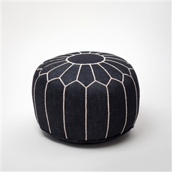 Dark Denim Pouf