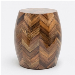 Java hand crafted banana Bark chevron barrel stool