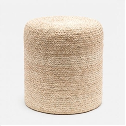 Woven Rafia stool side table natural material