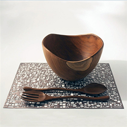 Teak Salad Bowl and Tongs