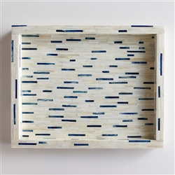 White and Blue Tray