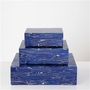 BJ Blue and White Resin Box