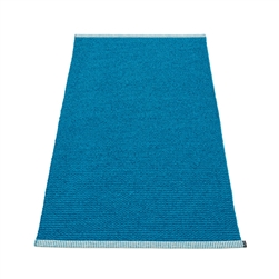 Pappelina plastic outdoor indoor floor mat runner light petrol