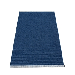 Pappelina plastic outdoor indoor floor mat runner dark blue denim