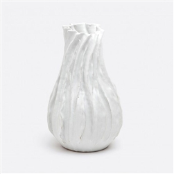 Lana Textured Large Glazed Ceramic Hand Made Vase