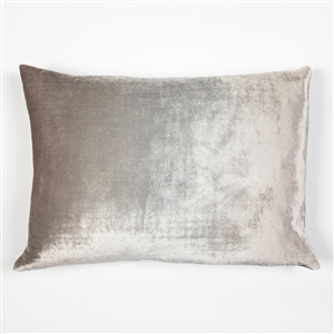 velvet pillow, velvet, silk, kevin o'brien, pillow, silver, metallic