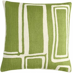 JR Procession Pillow Spring Green/Cream