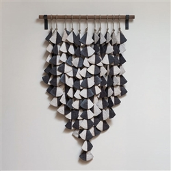 Wall Hanging Black and White Shells