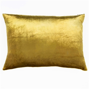 Velvet Ombre Lumbar Pillow Gold