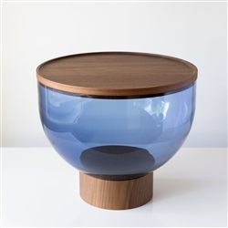 Mastea Table Low Walnut and Blue Grey