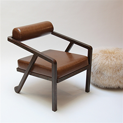 Bolster Chair Patina Finish