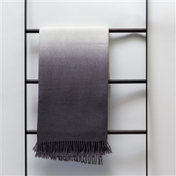 Dip-Dyed Throw Charcoal