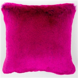 Faux Fur Pillow Rose